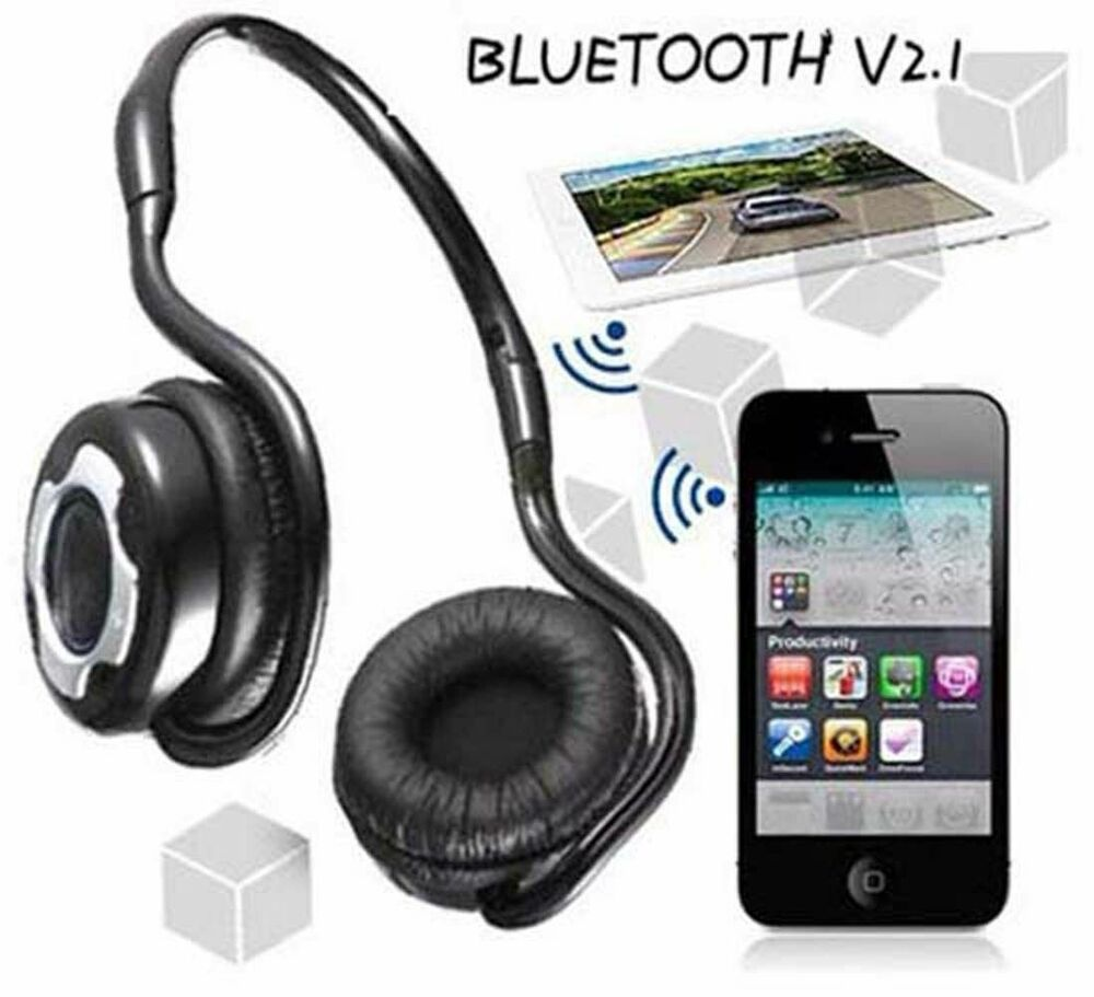 Neckband Bluetooth Headset For Phones Tablet Laptop Noise Cancelling Foldable