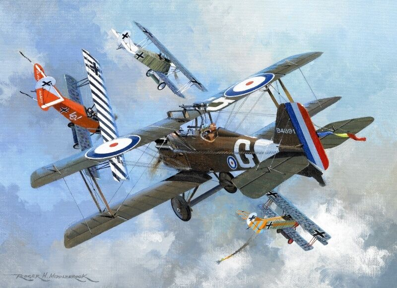 se 5a s e 5 james mccudden wwi plane aviation aircraft painting art print