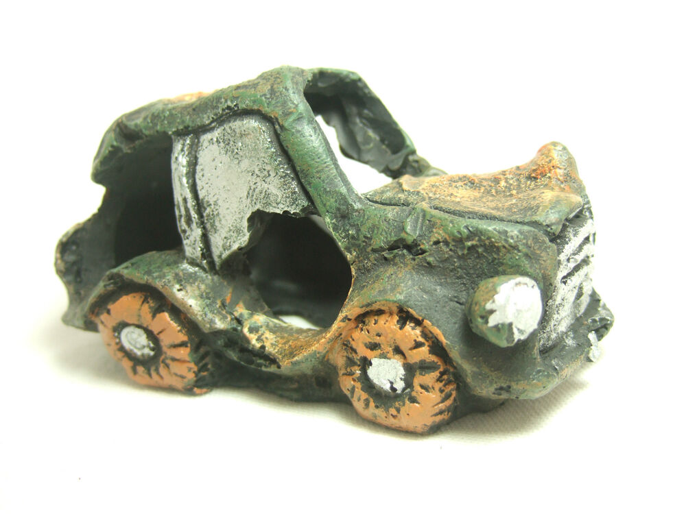 resin sunken wreck car aquarium ornament fish tank