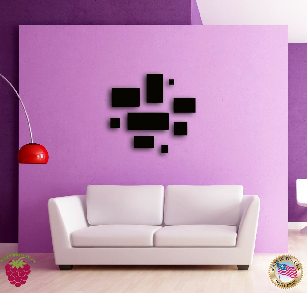Wall sticker abstracto modern geometrical decor for your for Wall sticker designs for living room
