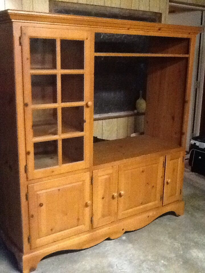 Entertainment Center Country Style Pine Exc Cond Ebay