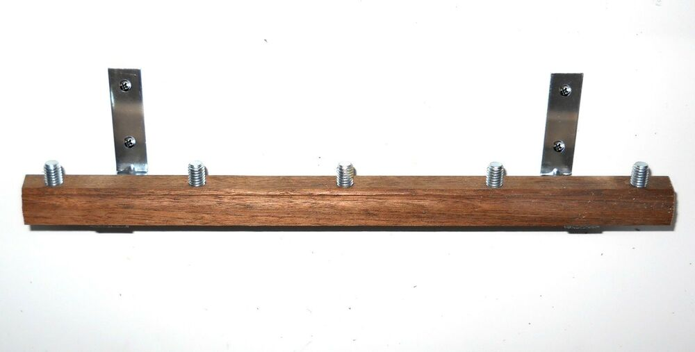 Wall Mount Beer Tap Handle Display Holds 10 Solid Oak 34