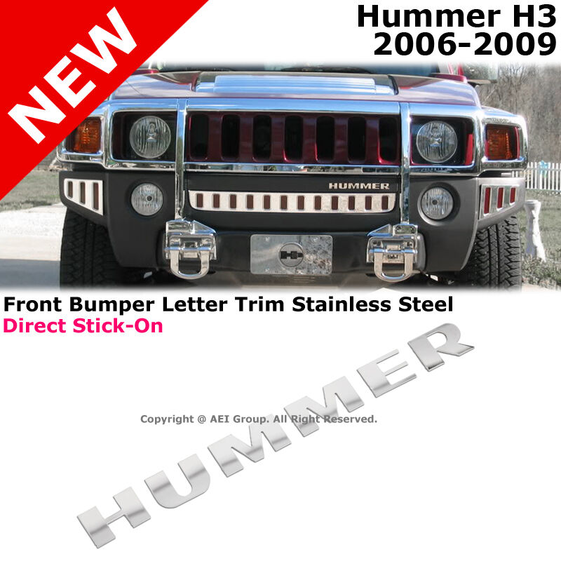 Hummer H3 06 10 Stainless Steel Front Bumper Chrome