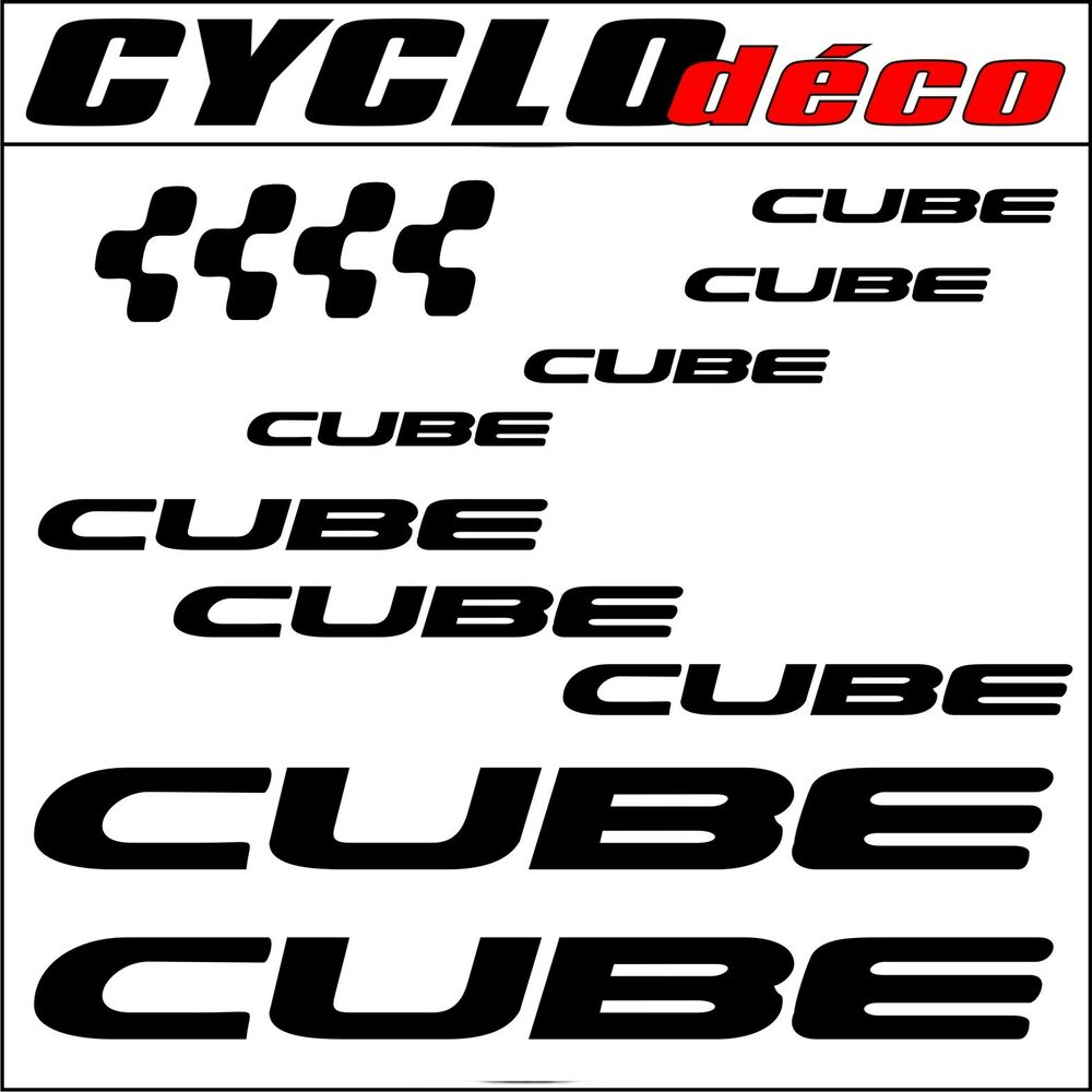 cube sticker autocollant pegatinas mountain bike velo vtt dh freeride downhill ebay. Black Bedroom Furniture Sets. Home Design Ideas