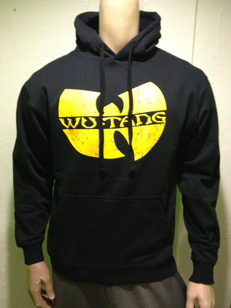 wu tang hoodie hip hop men 39 s black yellow ebay. Black Bedroom Furniture Sets. Home Design Ideas