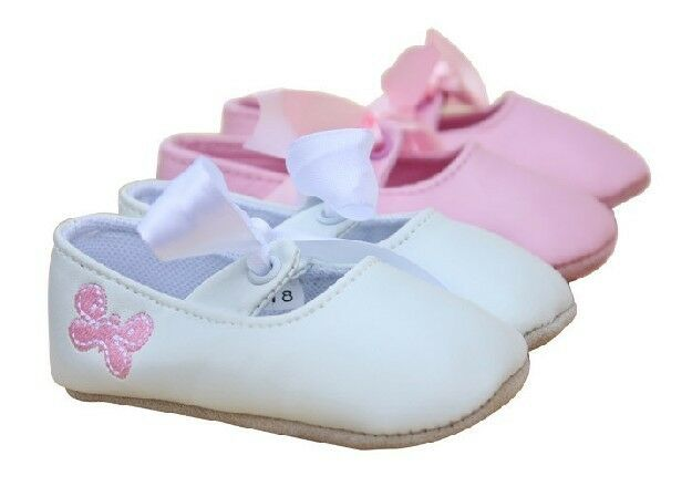 SALE Baby Girl Butterfly Leather Ballerina Shoes 6 12