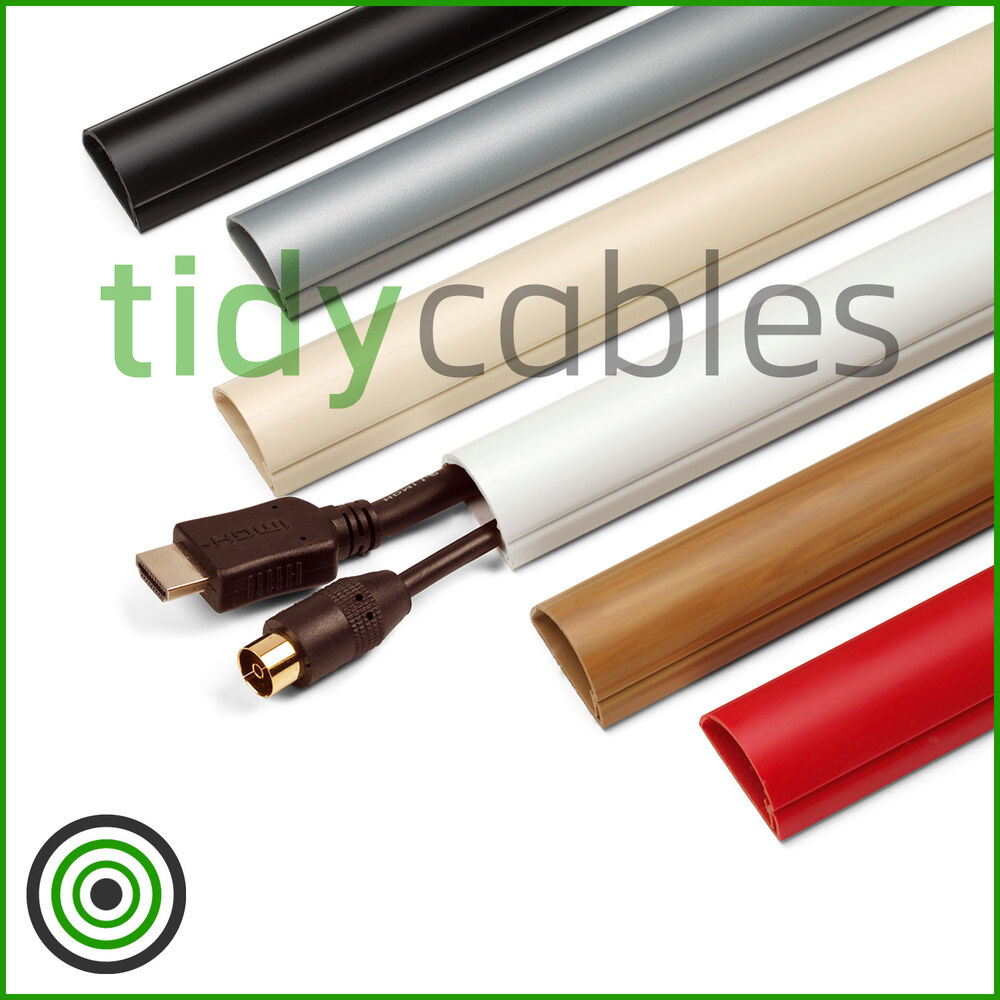 d line 30x15 tv cable tidy cover wire hide trunking 25cm 50cm 75cm 90cm lengths ebay. Black Bedroom Furniture Sets. Home Design Ideas