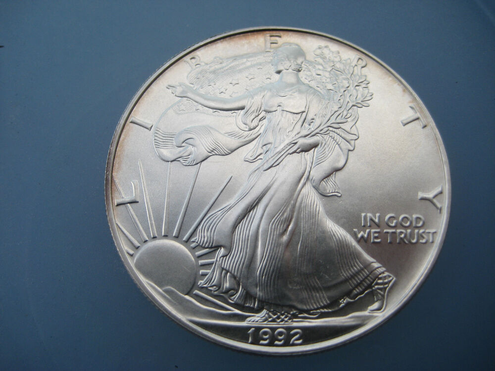 1992 1 Oz 999 Fine Silver Liberty Walking American Silver