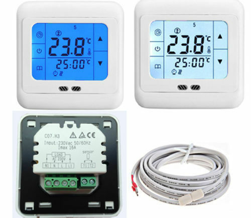 16a touchscreen digital programmierbar thermostat f r. Black Bedroom Furniture Sets. Home Design Ideas