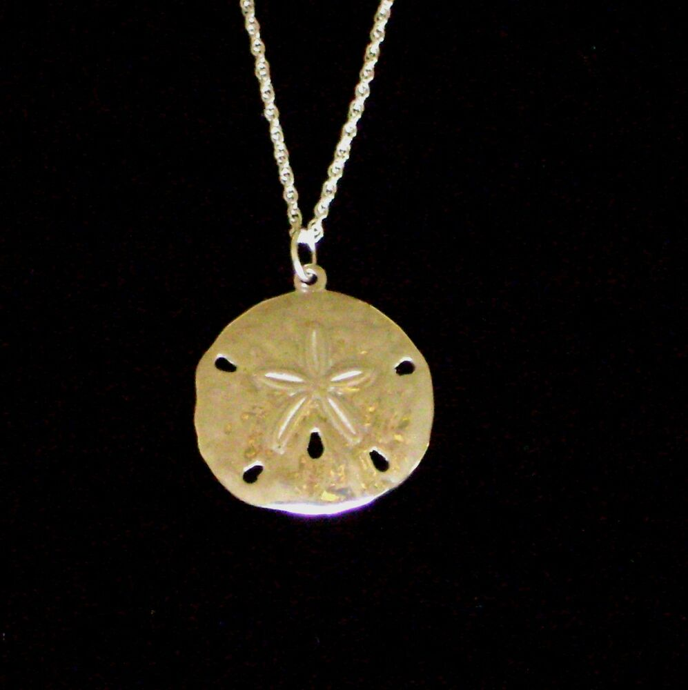 "New925 Sterling Silver Sand Dollar Charm Necklace 18""  Ebay. Lemon Quartz Rings. Cobalt Blue Necklace. Steel Chains. Couple Gold Wedding Rings. Pretty Engagement Rings. Leaf Clover Necklace. Amora Gem Engagement Rings. Morganite Necklace"