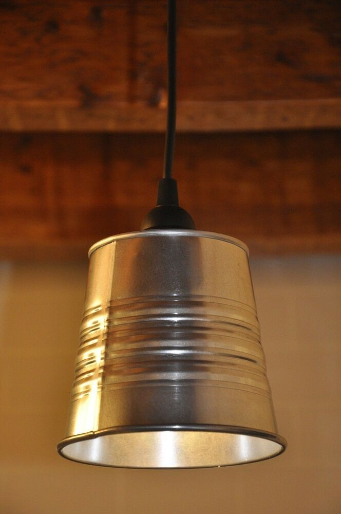 New Industrial Look Pendant Light Fixture Lamp Galvanized