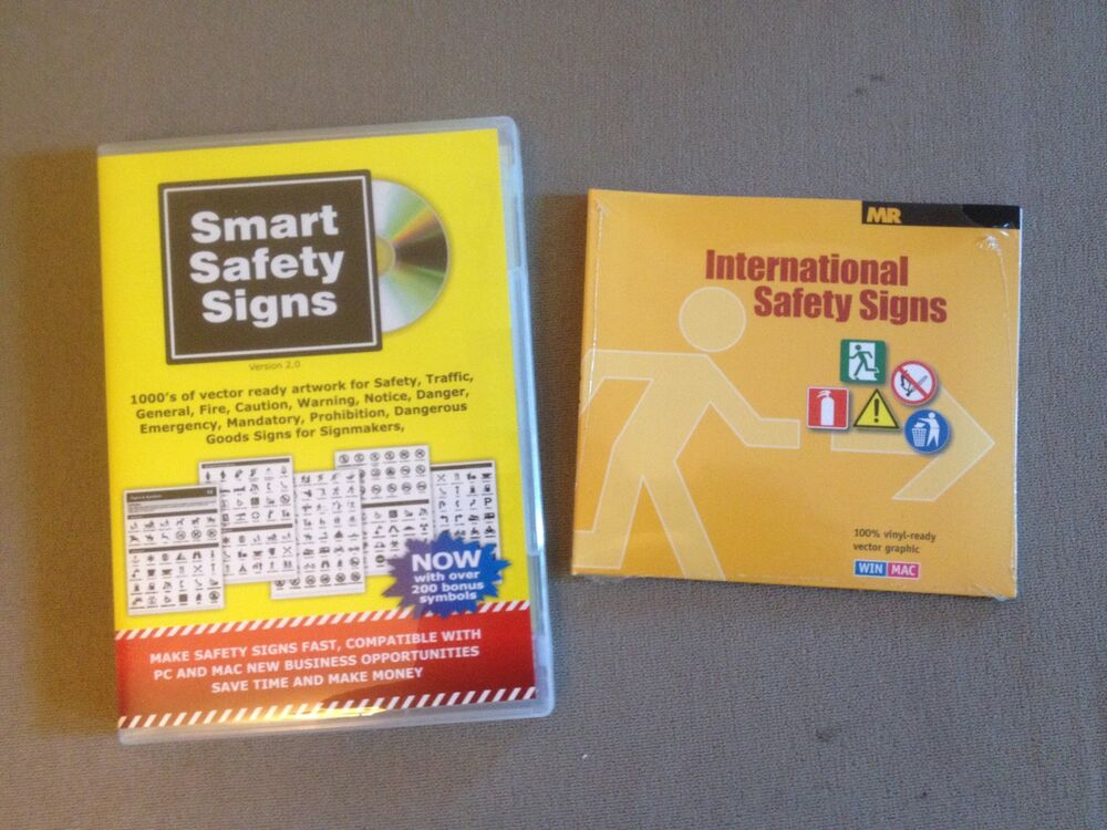 Vinyl Cutter Software >> NEW Smart Safety Signs CD + FREE International Safety Sign ...