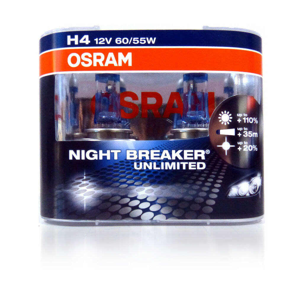 osram new h4 night breaker unlimited pair 110 plus. Black Bedroom Furniture Sets. Home Design Ideas