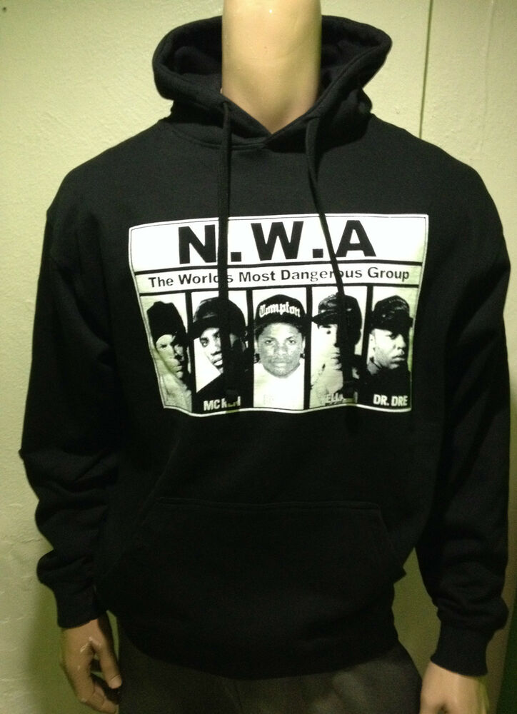 nwa hoodie dr dre eazy e ice cube hip hop rap beats ebay. Black Bedroom Furniture Sets. Home Design Ideas