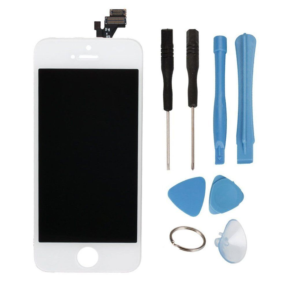 new white touchscreen digitizer lcd assembly for iphone 5 5g model a1428 a1429 ebay. Black Bedroom Furniture Sets. Home Design Ideas