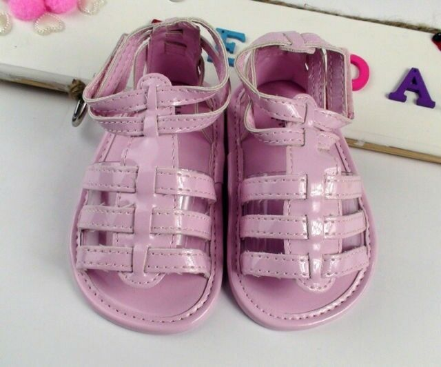 SALE NEW Baby Girl Flat Gladiator Sandals Shoes 3 6m 6 9m