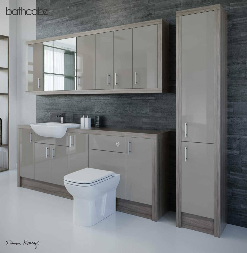 latte driftwood bathroom fitted furniture 2100mm with. Black Bedroom Furniture Sets. Home Design Ideas