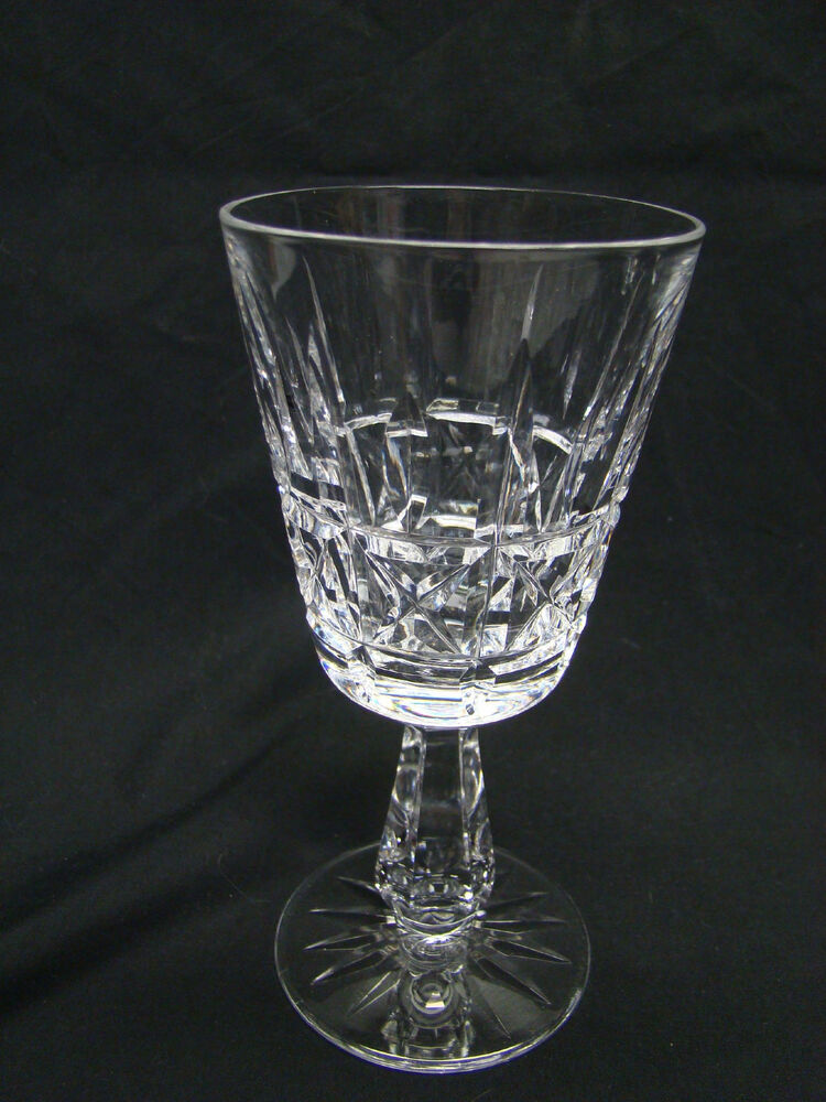 Waterford kylemore 6in claret wine glasses clear cut crystal ebay - Wedgwood crystal wine glasses ...
