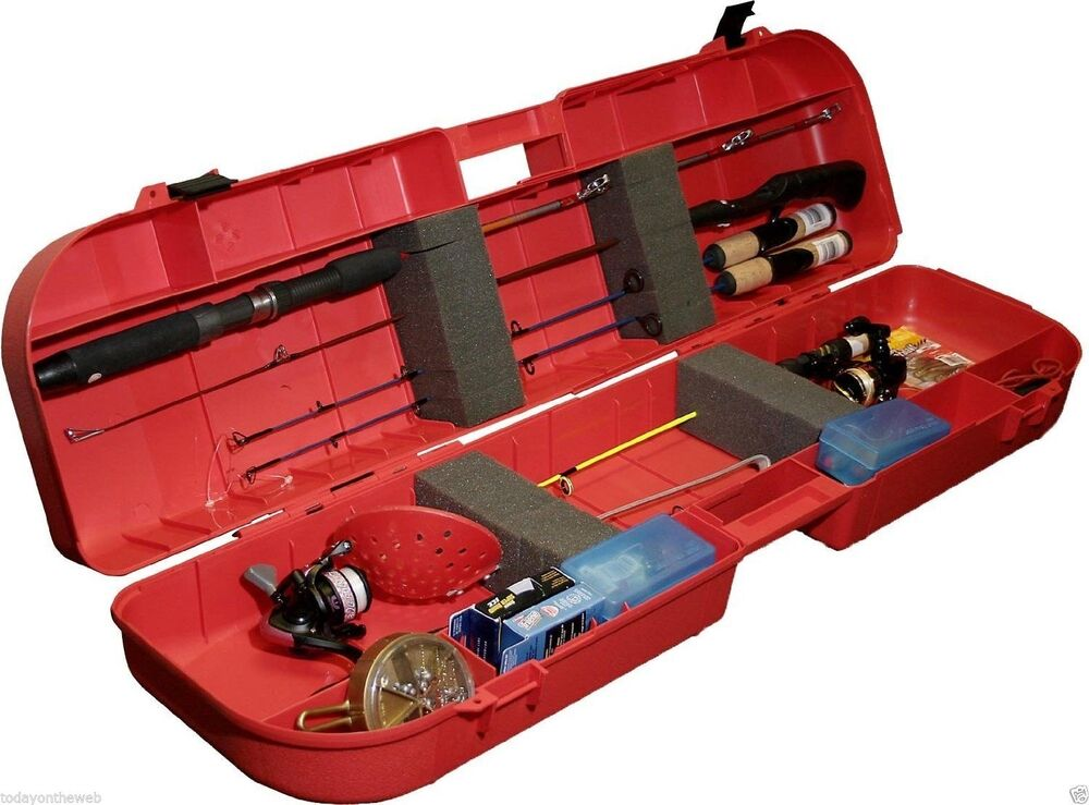 Mtm ice fishing rod storage carrying case holds up to 8 for Fishing rod case