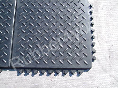 Cheapest checker gym rubber garage workshop professional