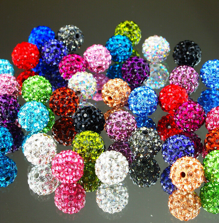 job lot 25 pcs crystal beads mixed color wholesale craft. Black Bedroom Furniture Sets. Home Design Ideas