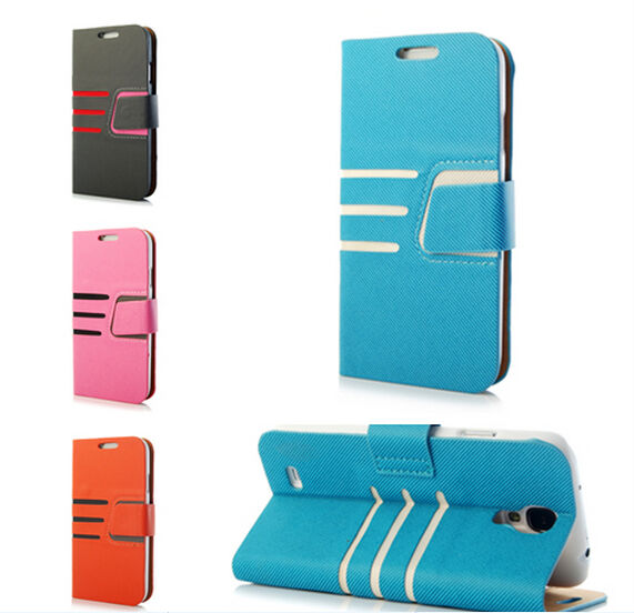 flip leather wallet case cover for samsung galaxy amp apple