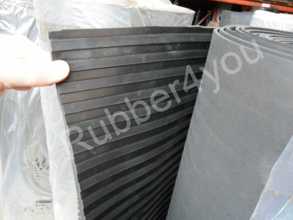 Black Broad Ribbed Cab Garage Shed Workshop Van Rubber