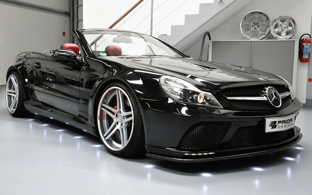 mercedes sl r230 widebody kit sl65 sl55 sl63 sl600 amg black series wide body ebay. Black Bedroom Furniture Sets. Home Design Ideas
