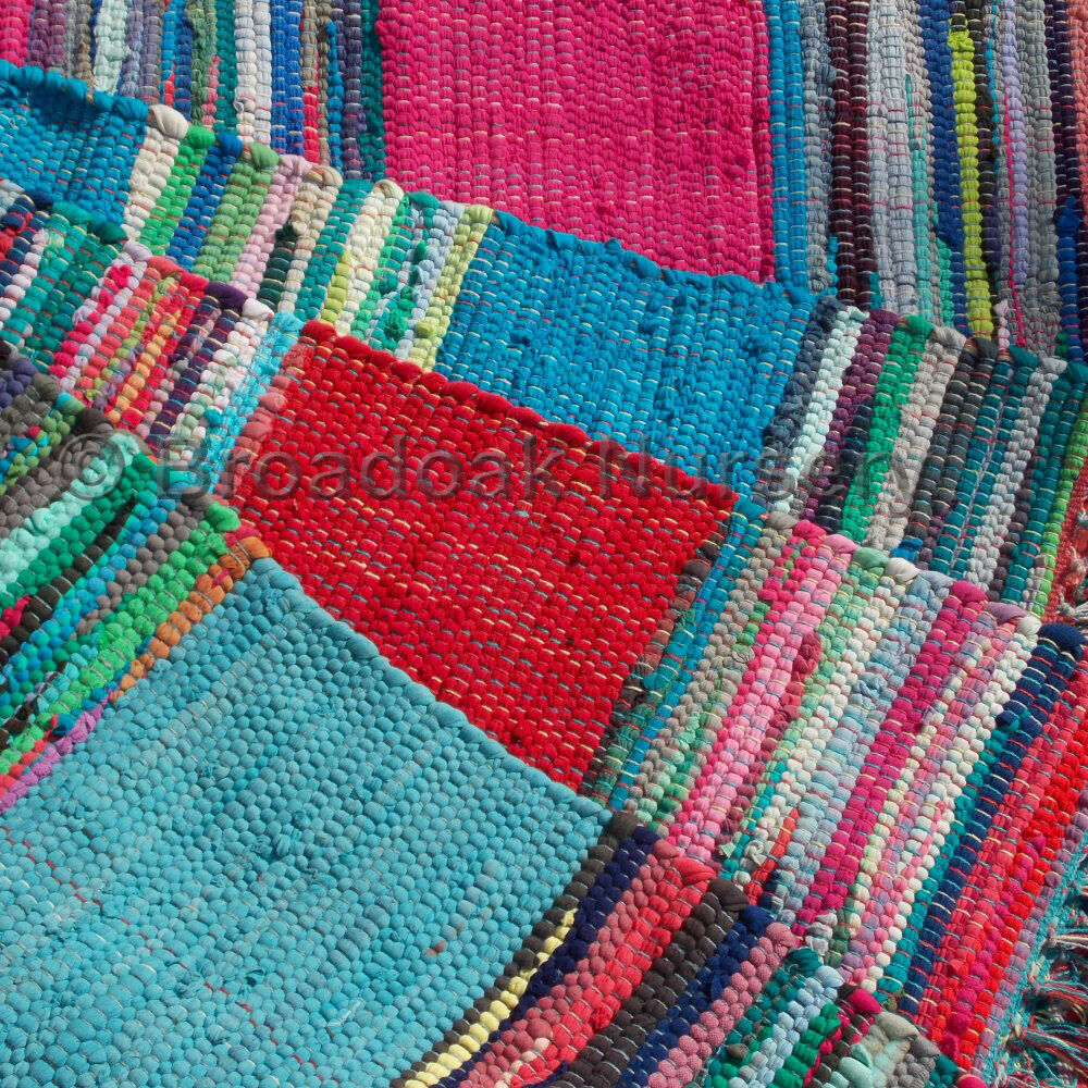 FAIR TRADE MEXICAN STYLE INDIAN RAG RUG 90 X 150cm (3' X 5