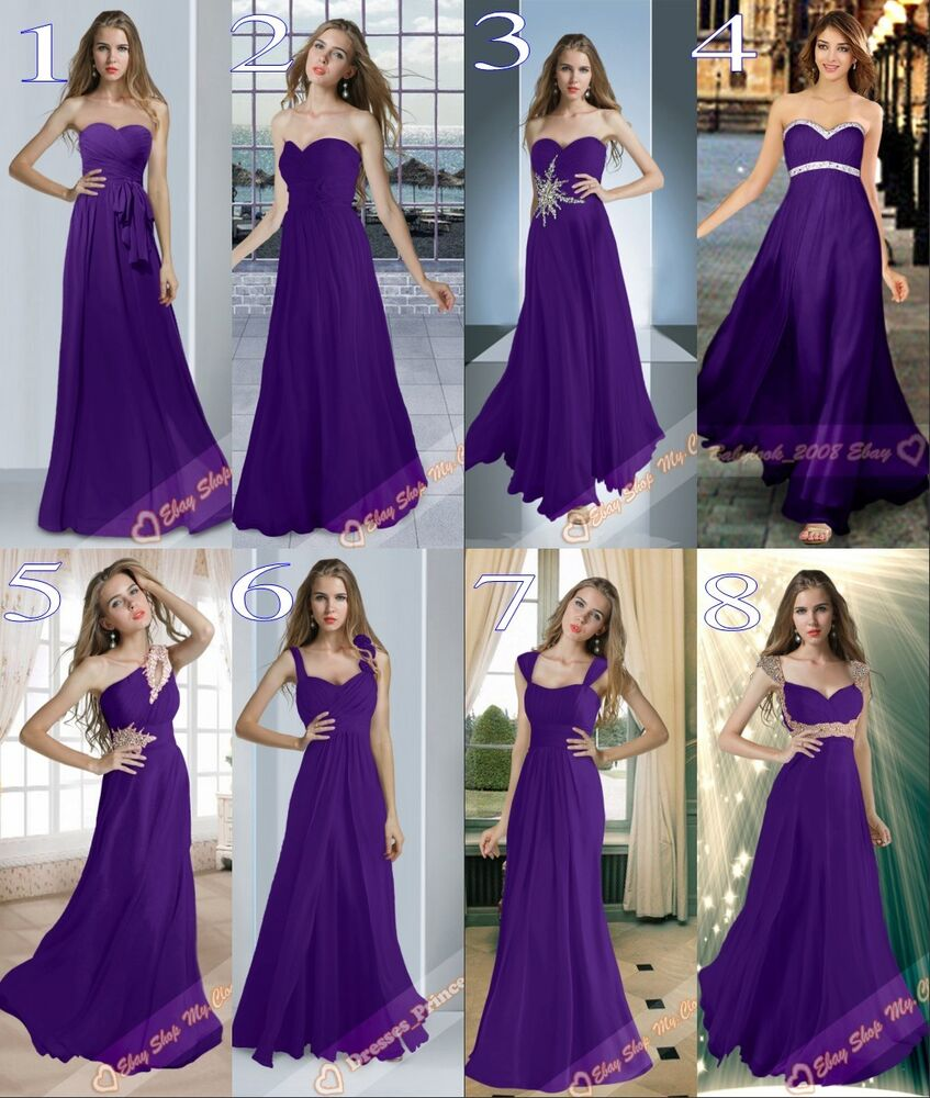 Purple bridesmaid dresses ebay discount wedding dresses for Ebay wedding bridesmaid dresses