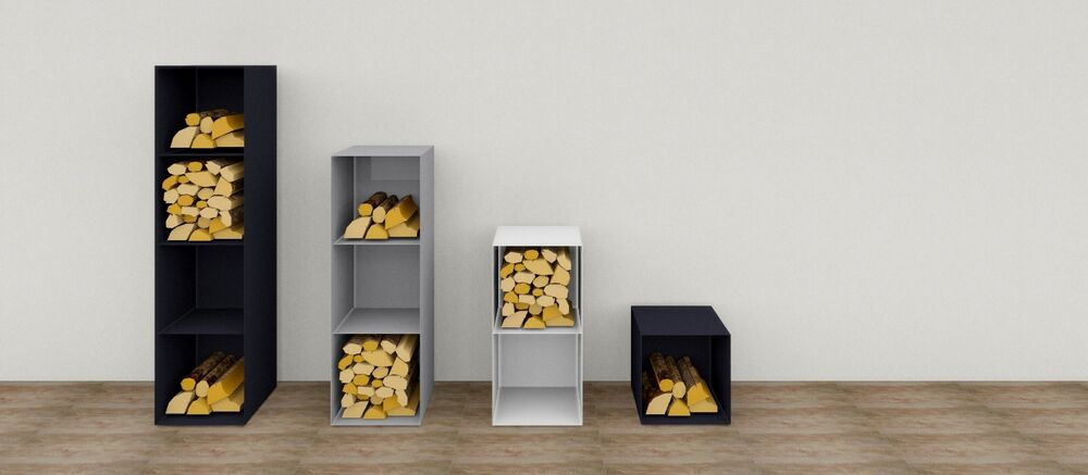 cb holzregal kaminholz holzkorb regal kaminholzst nder holz holzbox brennholz ebay. Black Bedroom Furniture Sets. Home Design Ideas