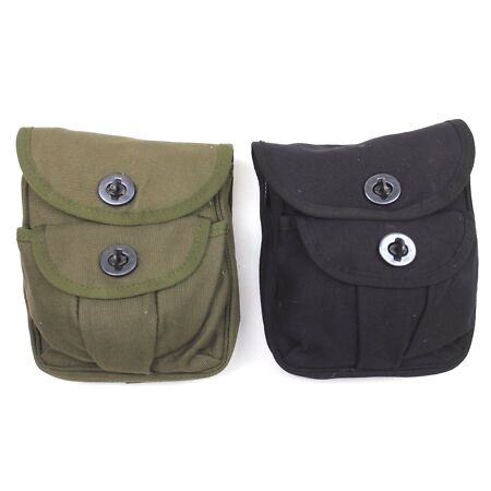 img-BRITISH ARMY POLICE Style UTILITY DUO BELT POUCH BLACK OR GREEN