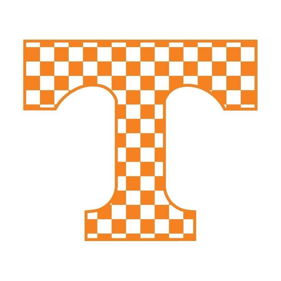 Ut Tennessee Volunteers Large Checkerboard Power T Decal