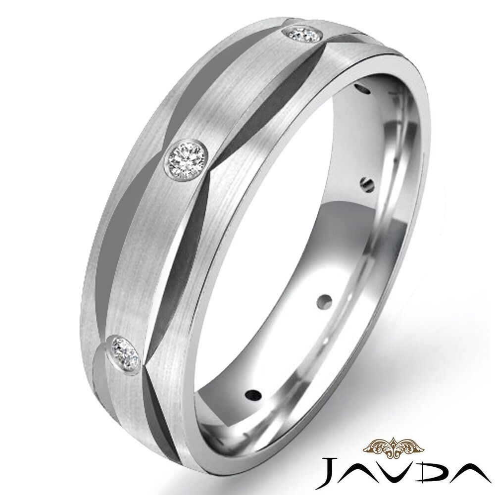 mens wedding rings bezel dome eternity wedding mens band ring 5811