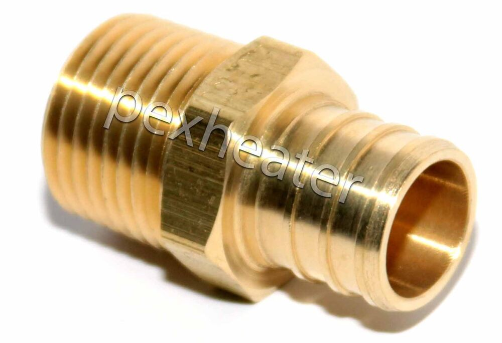 Quot pex mpt threaded adapter brass crimping