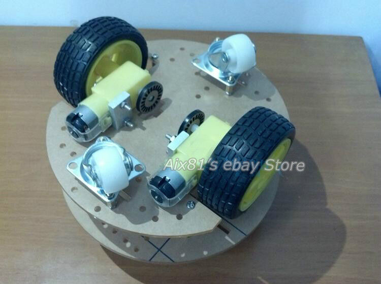 Smart car chassis mobile robot platform tracking coded
