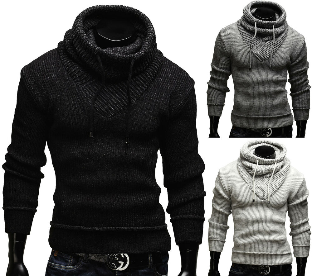 merish strickpullover schalkragen slim fit pullover strick neu herren schal 50 ebay. Black Bedroom Furniture Sets. Home Design Ideas