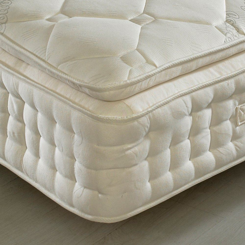 Happy Beds Dorchester 2000 Organic Pillowtop Mattress Pocket Spring Handmade New Ebay