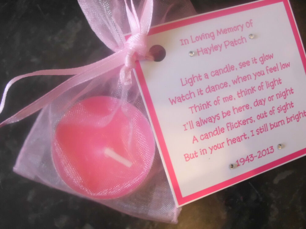 Candle Poem For Wedding Gift: 20 X Personalised Scented Candle Favors Communion
