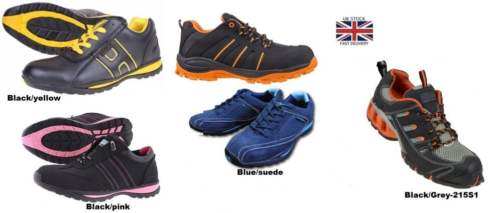 mens womens safety trainers shoes boots work steel toe cap