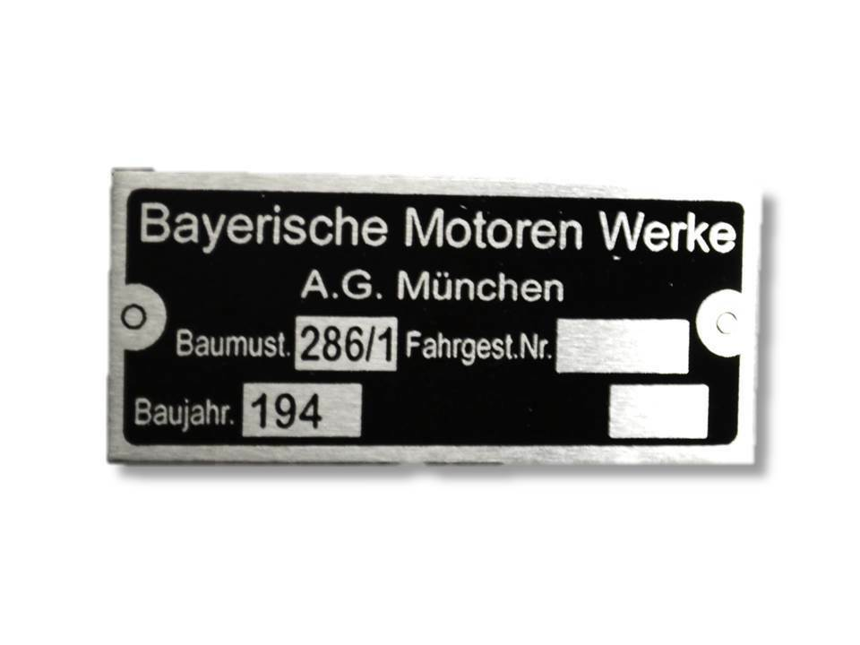 bayerische motoren werke typenschild schild id plate ebay. Black Bedroom Furniture Sets. Home Design Ideas