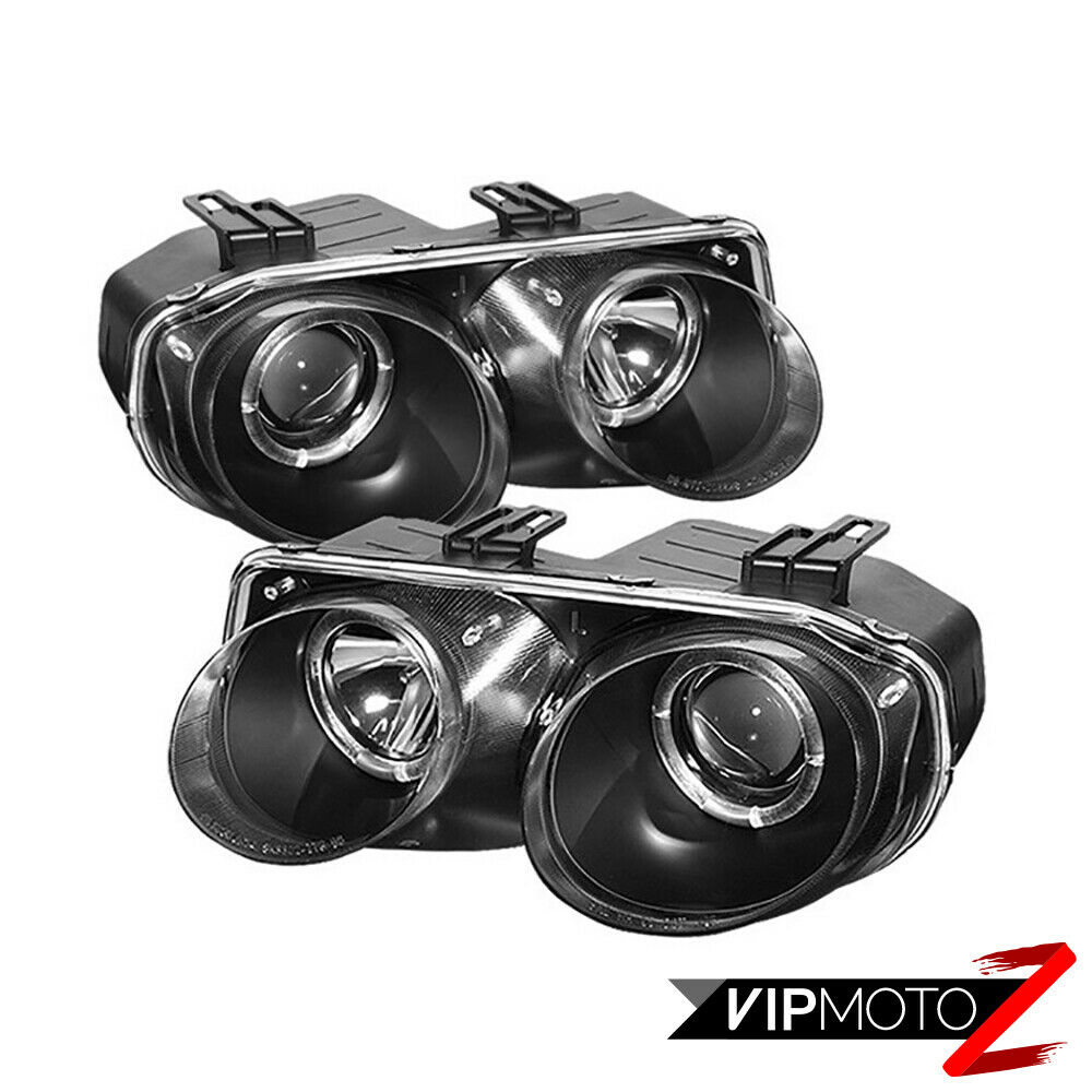 Acura Integra Headlights: ACURA INTEGRA 98-01 GSR/Type-R JDM Black Halo Projector