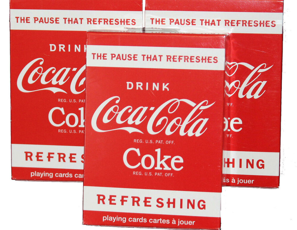coca cola drink red collectable playing cards deck ebay. Black Bedroom Furniture Sets. Home Design Ideas