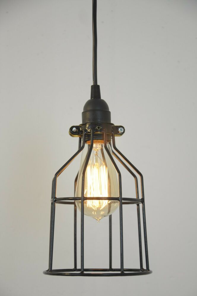 Metal Bulb Guard Lamp Light Cage Pendant Hanging