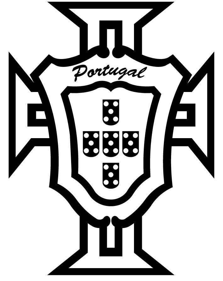 sticker portugal logo fpf pour voiture 30cm x 23cm ebay. Black Bedroom Furniture Sets. Home Design Ideas
