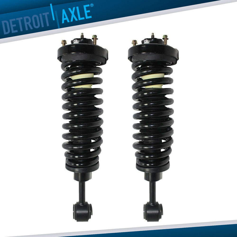 2012 Lincoln Navigator L Suspension: New L & R Complete Front Air To Coil Spring Strut