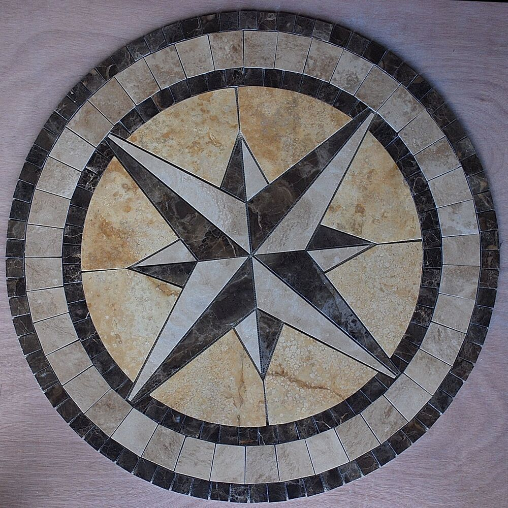 Marble Travertine Tile Medallion Design Stone 32 9 EBay