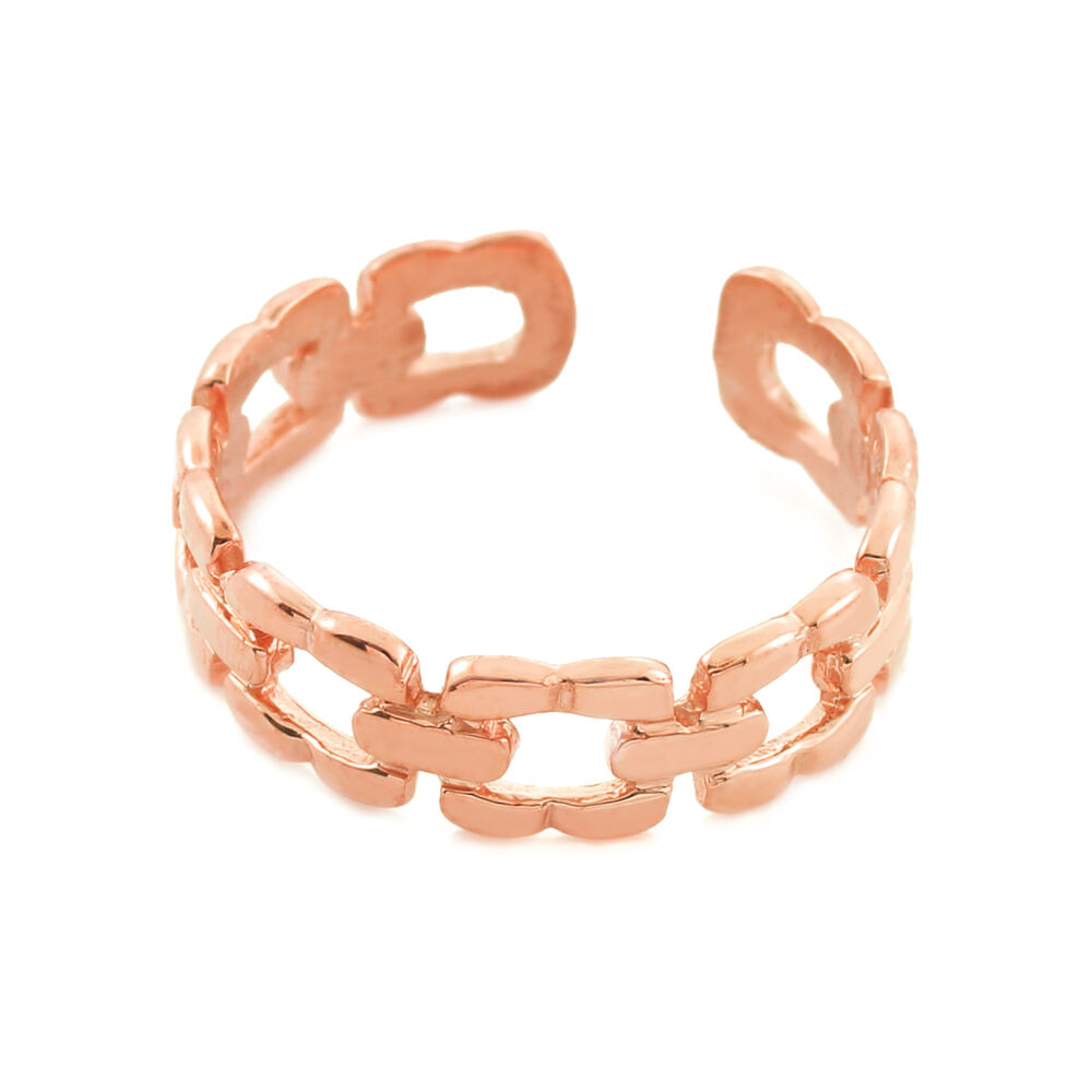 gold chain link design toe ring made in usa ebay