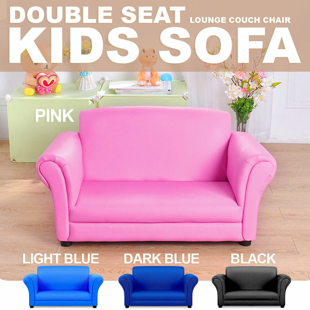 Double kids toddler sofa lounge couch chair seat brand new ebay Kids lounge sofa