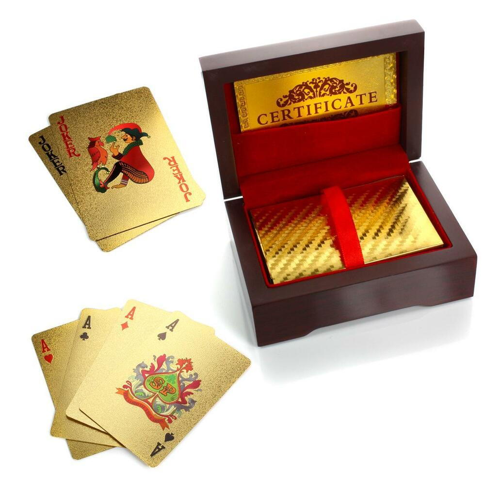 24K Gold Plated Playing Cards / Poker Deck